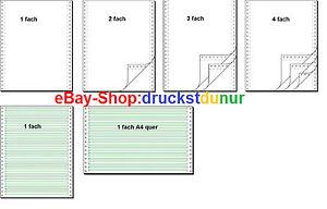 Endlospapier EDV Papier Computerpapier Durchschlagpapier Tabellierpapier 1234 f