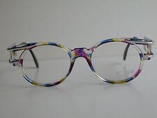 Cazal Vintage Eyeglasses - Nos - Model 353- Col.771- Silver, Multi.Pink, Blue
