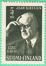 Sibelius Music Composer Band Leader Finland 1945 MNH