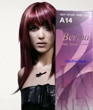 Dark brown violet Berina Hair Dye color cream  Fashion Salon A14 New