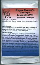 Papa Greco's, LLC homemade summer sausage seasoning mix