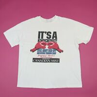 Vtg 90s Army Boxing T-Shirt L Boxy Fit Worn Thin Single Stitch Grunge Stedman
