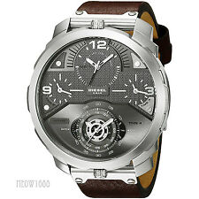 Brand New Diesel Men Oversize 56mm Machinus 4 Time Zone Day Date Watch DZ7360