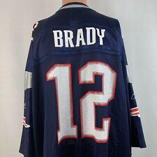 Reebok Tom Brady New England Patriots Replica Jersey NFL On Field Blue Size 5XL