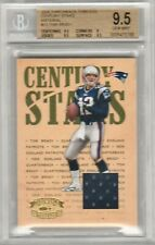 Tom Brady 2005 Donruss Playoff Throwback Threads Jersey Patch #/100 POP1 BGS 9.5