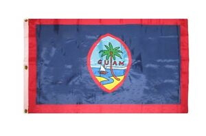 8x12 ft Embroidered Sewn Guam Nylon Flag 8'x12' grommets