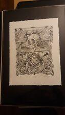 AJ Masthay Vagabond Minstrel 18 Line Art Letterpress Official S/N 19/50!