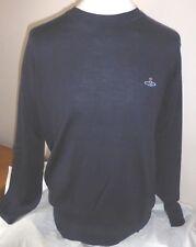 Vivienne Westwood Mens Crew Neck Wool Navy Jumper Size Large 100 Authentic