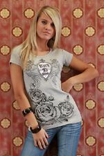 T SHIRT TOP SEXY FASHION GRIS TAILLE S/M 36/38