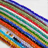 New 3mm/4mm/6mm/8mm/10mm Rondelle Faceted Crystal Glass Spacer Loose Beads