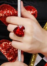 La Reine de Coeur Grand Coeur Rouge Jewel Ring
