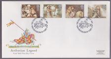 GRAN BRETAGNA 1985 FDC Royal mail COVER Arthurs LEGGENDA CAMELOT WINCHESTER Annulla