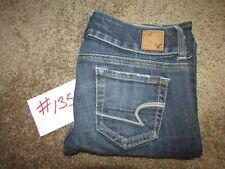 "American Eagle Artist Stretch Jeans Size 2 Short Boot Cut 29"" Inseam Distressed"