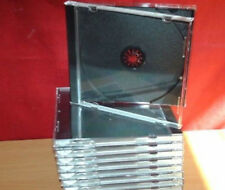 10  CD CLEAR CASE AND BLACK TRAY