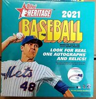 ✅⚾️🔥2021 Topps Heritage Wal-Mart Exclusive Mega Box - New Sealed