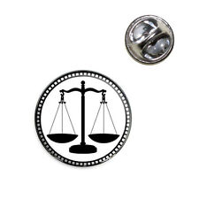 Scales of Justice Lapel Hat Tie Pin Tack