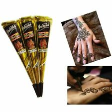 12pcs Indian Henna Paste Temporary Tattoo Waterproof Body Paint Henna Art Cream
