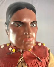 "25"" Antique American Composition Tonto Doll! Rare! Beautiful! 18008"