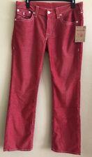 True Religion Mens Jeans SZ 36x32 Straight Flap Corduroy Ruby Red Style MX3859TS