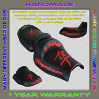 Unique Custom Seat COVER Suzuki Hayabusa 99-07 (1 Gen) Black+Red (3pillow)