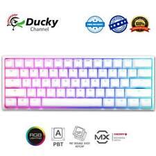 Ducky One 2 Mini White RGB Backlit Mechanical Keyboard PBT Cherry MX Switches