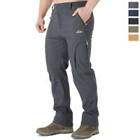 Men's Soft Shell Mountain Climbing Pants Waterproof Outdoor Ski Hiking Trousers