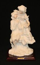 Giuseppe Armani Florence Art Sculpture Mother & Daughter Child Sitting on Tree