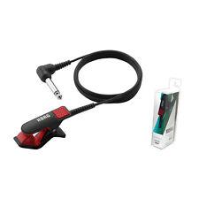 Korg CM-200 Piezo Clip-On Brass Violin Guitar Uke Contact Microphone Red