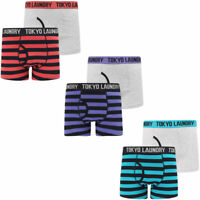 New Mens Tokyo Laundry Newtown 2 Pack Cotton Striped Boxer Shorts Set Size S-XXL