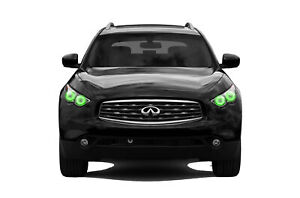 for Infiniti QX70 13-17 Green LED Halo kit for Headlights