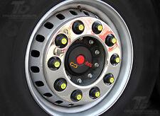 "22,5 "" 1x set 2x stud covers wheel trim steel Renault DAF Actros Mercedes SCANIA"