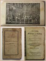 Geschichte des Reichstages zu Augsburg im Jahre 1530 mit Lithografie 1830 xz