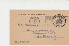 Great Britain 1954 O.H.M.S. Inland Rev App. London Cancel Stamps Card ref 22262