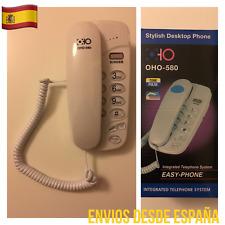 Teléfono Fijo Con Cable OHO-580 Con Números Grandes Rellamada Flash Mute