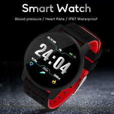 Умные часы браслет-повязка на запястье пульс монитор артериального давления Фитнес трекер