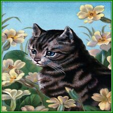 30 Custom Cat In The Flowers Personalized Address Labels