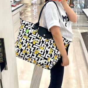 Authentic Longchamp X Pokemon Pikachu Le Pliage Top Handle Bag Large -1899
