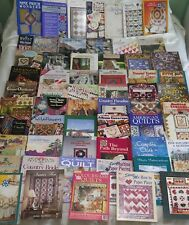 Huge Lot of 60 Quilt Quilting Pattern Books Applique Patchwork Crazy Photo