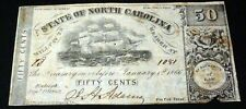 STATE OF NORTH CAROLINA september 1 1862 50 CENTS -RARITY 6 (400-800 EXIST)