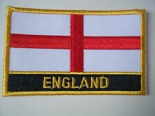 ENGLAND PATCH Deluxe Embroidered Iron On Badge ENGLISH National Flag NEW