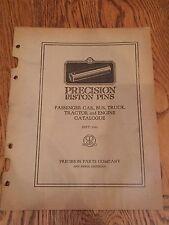 1933 Precision Piston Pins Passenger Car Bus Truck Tractor Engine Catalog Book