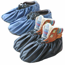 2 Pairs Waterproof Shoe Boot Covers Washable Reusable Non Slip Overshoes Booties