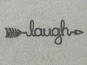 Laugh Arrow Wood Wall Sign Home Decor