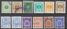 Bangladesh Share Transfer Revenues 12 diff used stamps cv $15