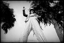 Neal White Photo, Uncle Sam on Stilts, circus sideshow, 1970s