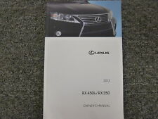 2013 Lexus RX 450h RX 350 SUV Owner Manual User Guide AWD F Sport 3.5L V6