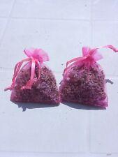 2 sachets de lavande  séchée en organza couleur rose fushia 100% bio pot pourri