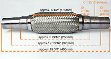 """Heavy Duty Exhaust Flex Pipe Stainless Steel Double Braided 9.84"""" 12.8"""" 15.75"""" -"""