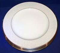 "STUNNING SET OF 4 NORITAKE BONE CHINA 4773 SILVER PALACE 10 7/8"" DINNER PLATES"