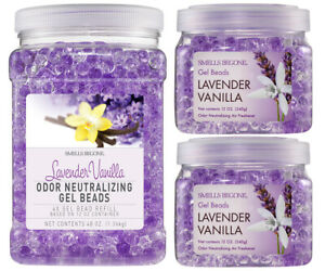 SMELLS BEGONE Gel Bead Value Pack - Air Freshener - Lavender Vanilla Scent